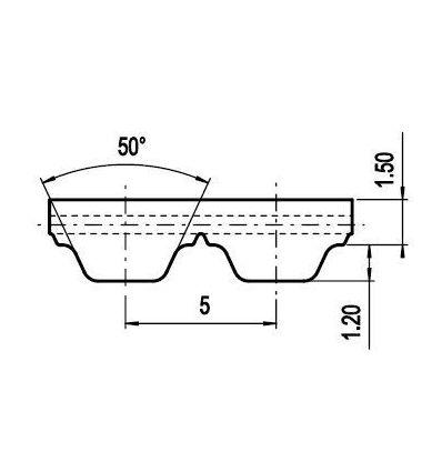 75 AT5 Lineár ozubený remeň s otv.koncom