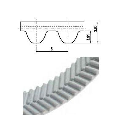 12,5 EAGLE 5M Lineár ozubený remeň s otv.koncom