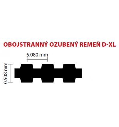 25/6,35 D-XL 372 ozubený remeň