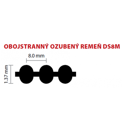 20 DS8M 1136 ozubený remeň