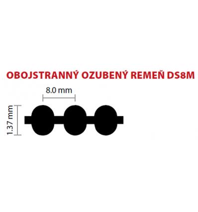 20 DS8M 1256 ozubený remeň