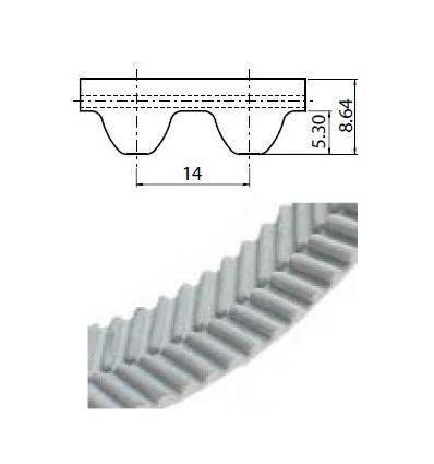 105 EAGLE 14M Lineár ozubený remeň s otv.koncom