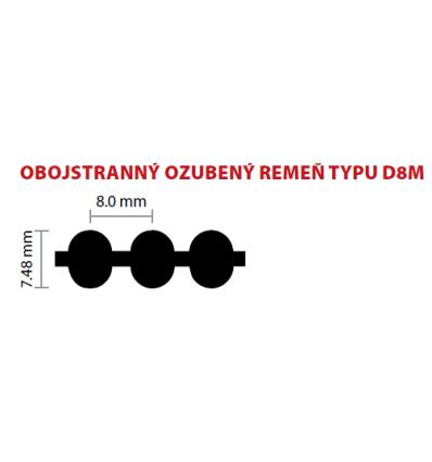 20 D8M 1080 ozubený remeň