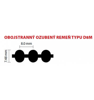 20 D8M 1104 ozubený remeň